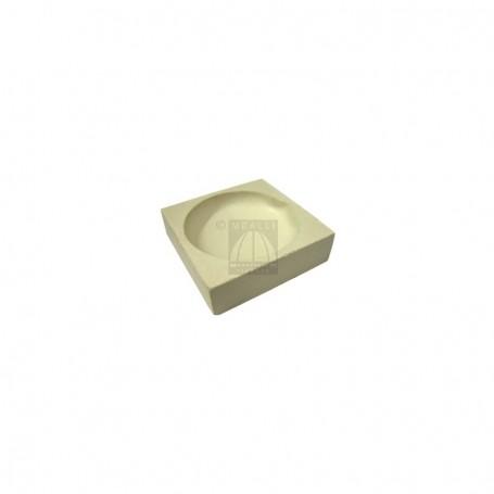 Squared ceramic crucible cm 4x4