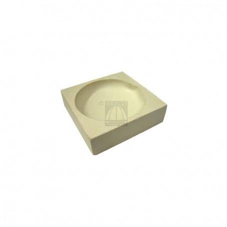 Squared ceramic crucible cm 5x5