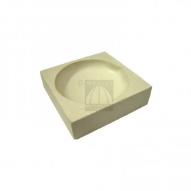 Squared ceramic crucible cm 6x6