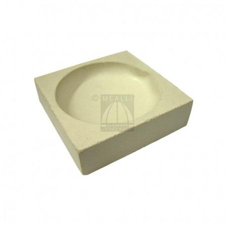 Squared ceramic crucible cm 7x7