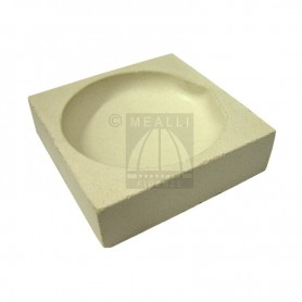 Squared ceramic crucible cm 8x8