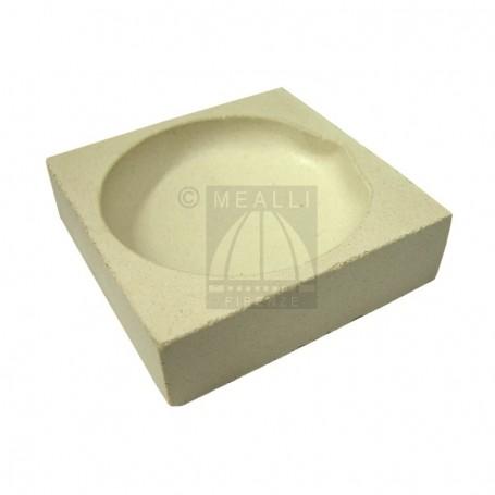 Squared ceramic crucible cm 8x8