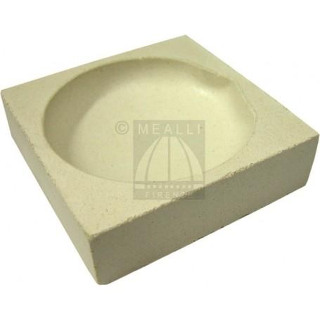 Squared ceramic crucible cm 10x10