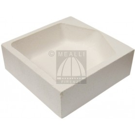 Squared ceramic crucible cm 12x12