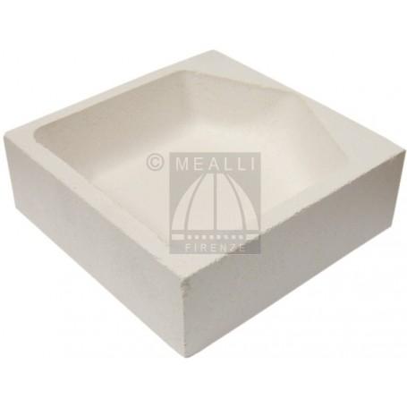 Squared ceramic crucible cm 12x12