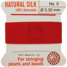 Silk Bead Cord Red