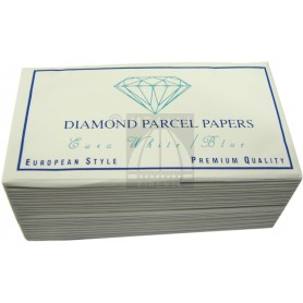 Diamond Parcel Papers White-Blue