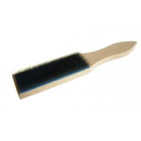 Brush for cleaning files