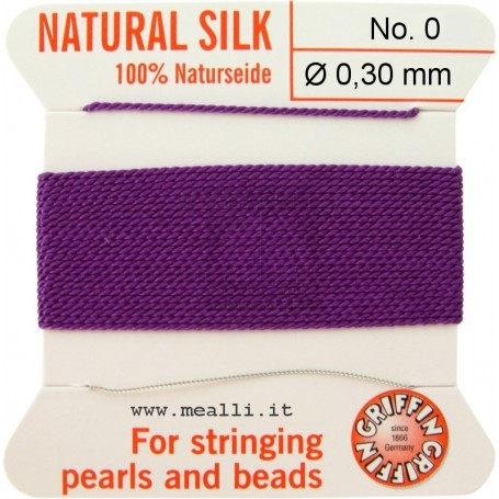 Silk Bead Cord Amethyst