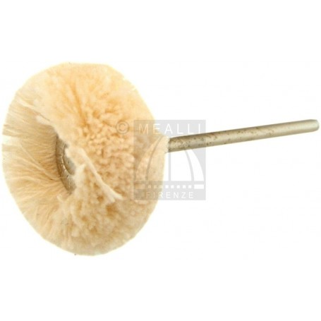 Wheel Brush White cotton yarn Ø 22 mm