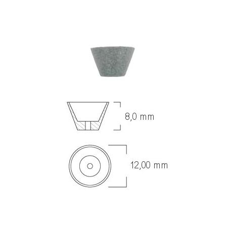 Coppetta in silicone per finitura Ø 12 mm