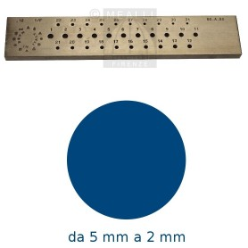 Round Steel drawplate from 5 to 2 mm