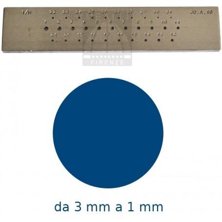 Trafila tonda da 3 a 1 mm