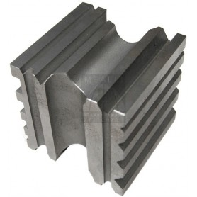 Grooved and ground steel cube