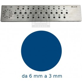 Round Steel drawplate from 6 to 3 mm