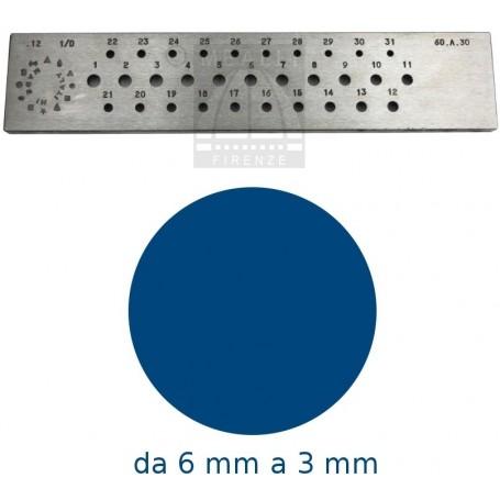Trafila tonda da 6 a 3 mm