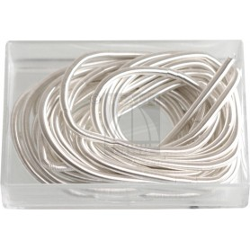 French Wire White-Finish mm 1,00