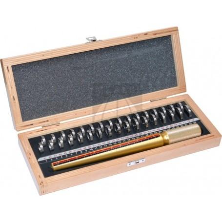 Set prova fedi in scatola di legno
