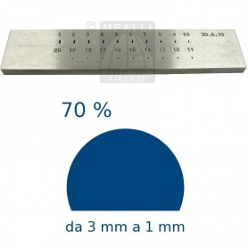 Half round Steel drawplate 70% from 3 to 1 mm