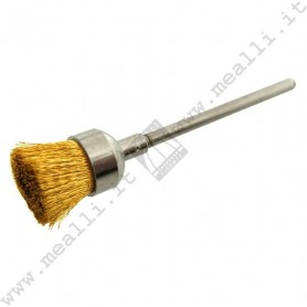 Crimped Brass Wire End Brush Ø 11 mm, mounted