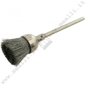 Crimped Steel Wire End Brush Ø 11 mm, mounted