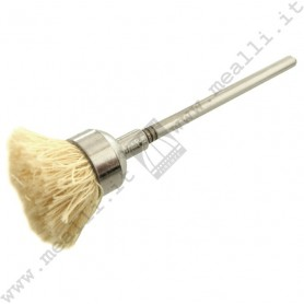 White cotton yarn Brush Ø 11 mm, mounted