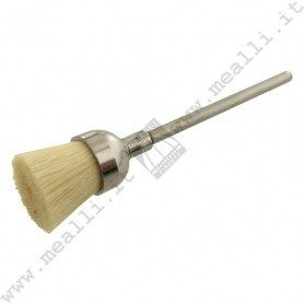 White soft goat hair Brush Ø 11 mm, mounted