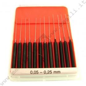 Alesatori in set da 0,05 a 0,25 mm (Pz. 12)