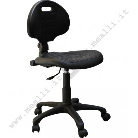 Ergonomic polyurethane laboratory chair