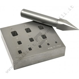 Rectangular Bezel Forming Punch Set 4 - 14 mm