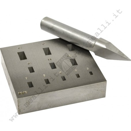 Rectangular Bezel Forming Punch Set 5 - 15 mm