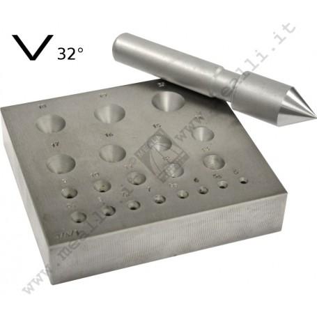 Round 32° Bezel Forming Punch Set 5 - 20 mm