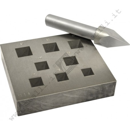 Square Bezel Forming Punch Set 14 - 21 mm