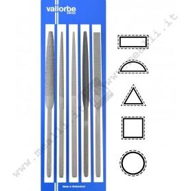 Set of 5 VALLORBE Habilis rasps