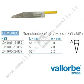 Vallorbe HSS Knife Graver for engraving machines