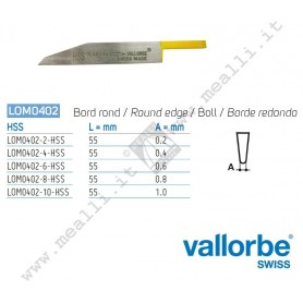 Vallorbe HSS half-round Graver for engraving machines