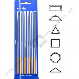 Set of 6 VALLORBE VALTITAN Needle File