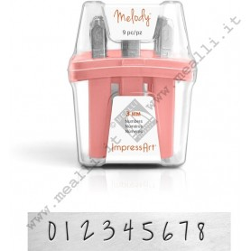 Numerical Marking punch set  - mm 3.0 Melody