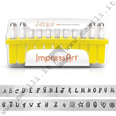 Alphabet Uppercase Marking punch set - mm 4.0 Jeanie