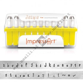 Alphabet Lowercase Marking punch set - mm 4.0 Jeanie
