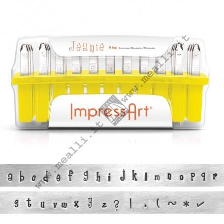 Alphabet Lowercase Marking punch set - mm 4.0 Jeanie