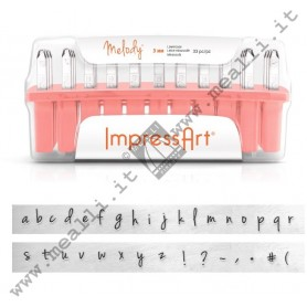 Alphabet Lowercase Marking punch set - mm 3.0 Melody