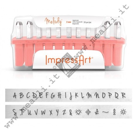 Alphabet Uppercase Marking punch set - mm 3.0 Melody