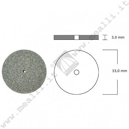 Ruotina in carburo silicio Ø 33 x 3 mm