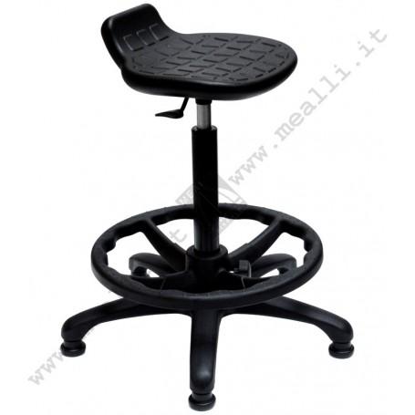 Ergonomic polyurethane laboratory stool