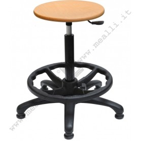 Laboratory Beech Wood Stool