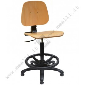 Wood Laboratory Chair
