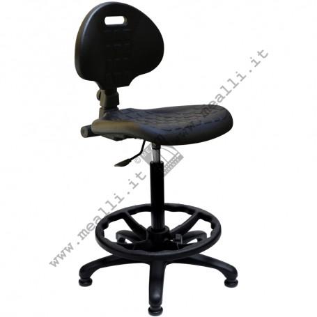 Ergonomic polyurethane laboratory chair