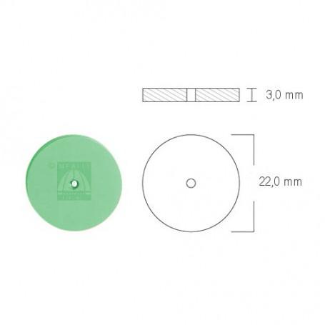 Ruota in silicone verde per lucidatura Ø 22 mm