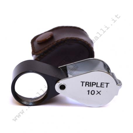 Triplet Loupe 10x Black - Chrome